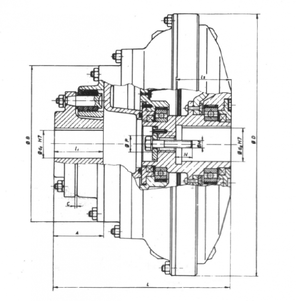 HIDRODINAMICKE SPOJNICE ZA ELEKTROMOTORE TIP 14HS - Eg