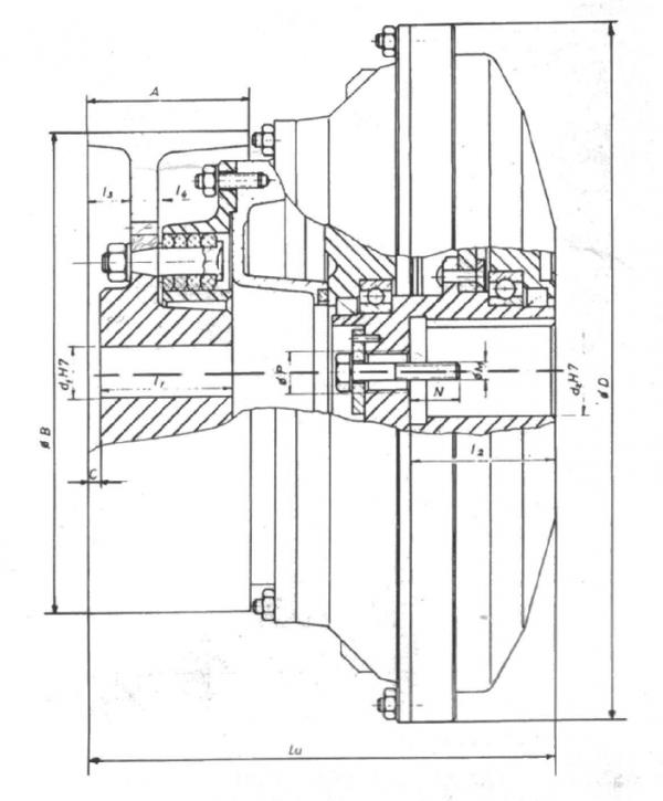 HIDRODINAMICKE SPOJNICE ZA ELEKTROMOTORE TIP 14HS - Ekd